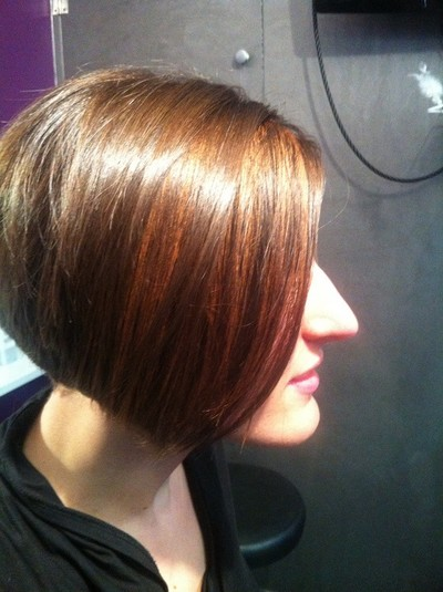 Coupe carré court -coiffure Salon So'Liss