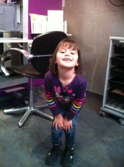 Coupe cheveux enfant, coupe carré