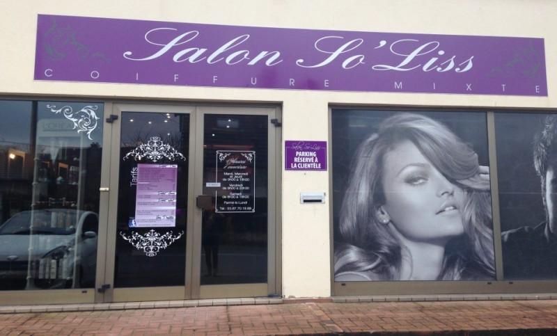 salon de coiffure Soliss vu de la rue à Gandrange